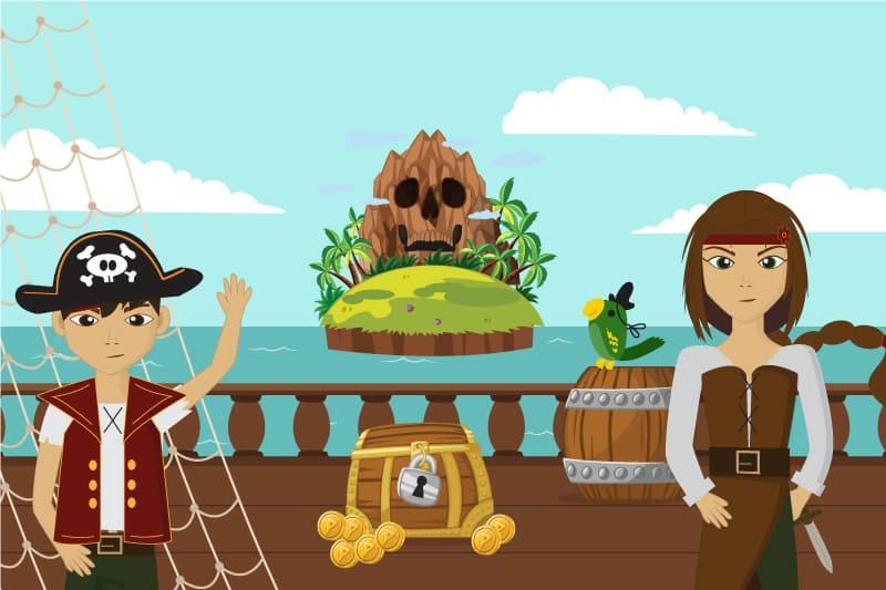 Chasse Au Trésor - L'Or Volé Des Petits Pirates (4/6 Ans) encequiconcerne Chasse Au Tresors Theme Des Pirates