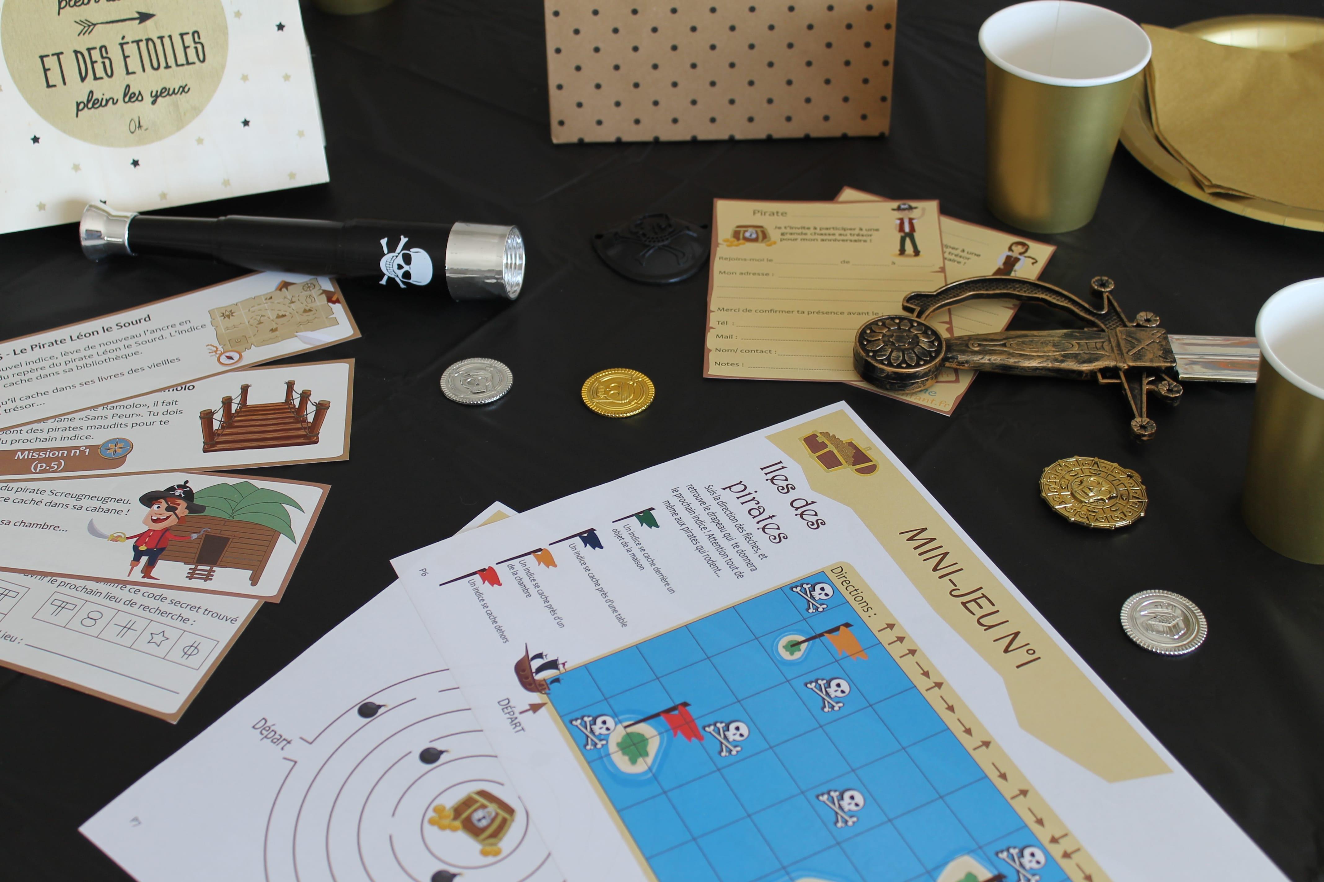 Chasse Au Trésor - L'Or Volé Des Pirates (7/10 Ans) concernant Chasse Au Tresors Theme Des Pirates