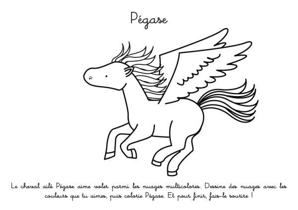 Cheval Pegase Coloriage | Danieguto serapportantà Dessin Pegase