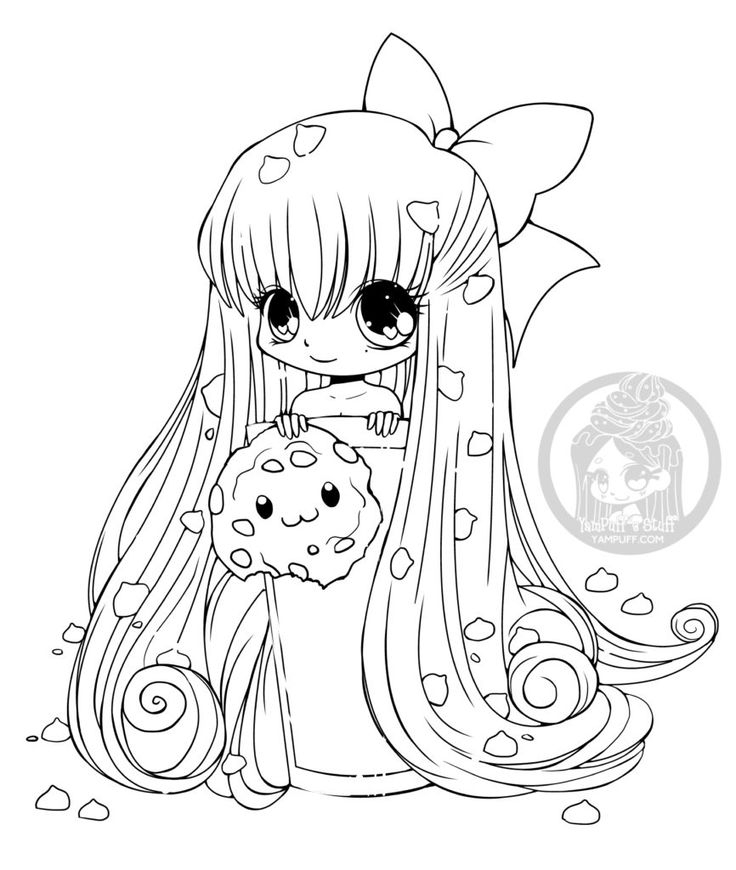 Chibi Biscuit Dessin Manga A Imprimer Gratuit Par Yampuff concernant Coloriage Totoro A Imprimer