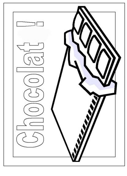Chocolat : Coloriage Chocolat À Imprimer Et Colorier concernant Coloriage Tablette