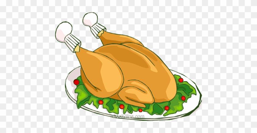 Christmas Turkey Dinner Royalty Free Vector Clip Art encequiconcerne Dinde Dessin