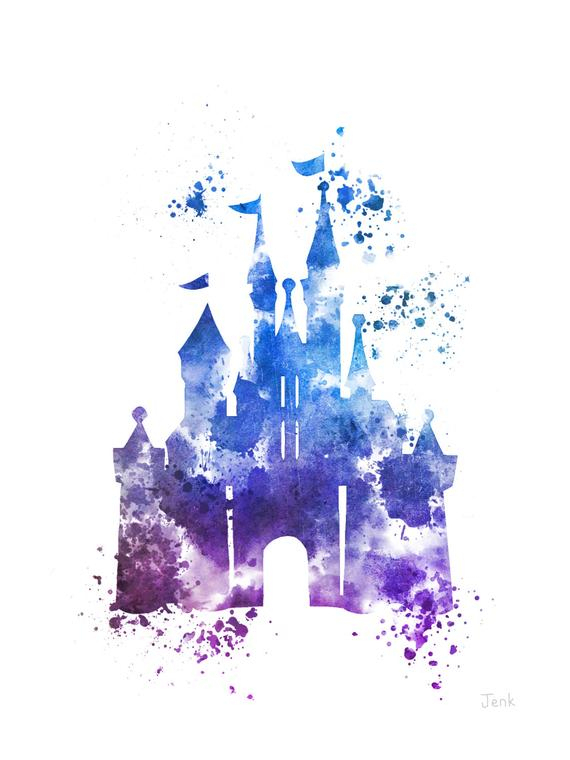 Cinderella Castle Art Print 4Th Edition Illustration By pour Dessin Chateau Disney