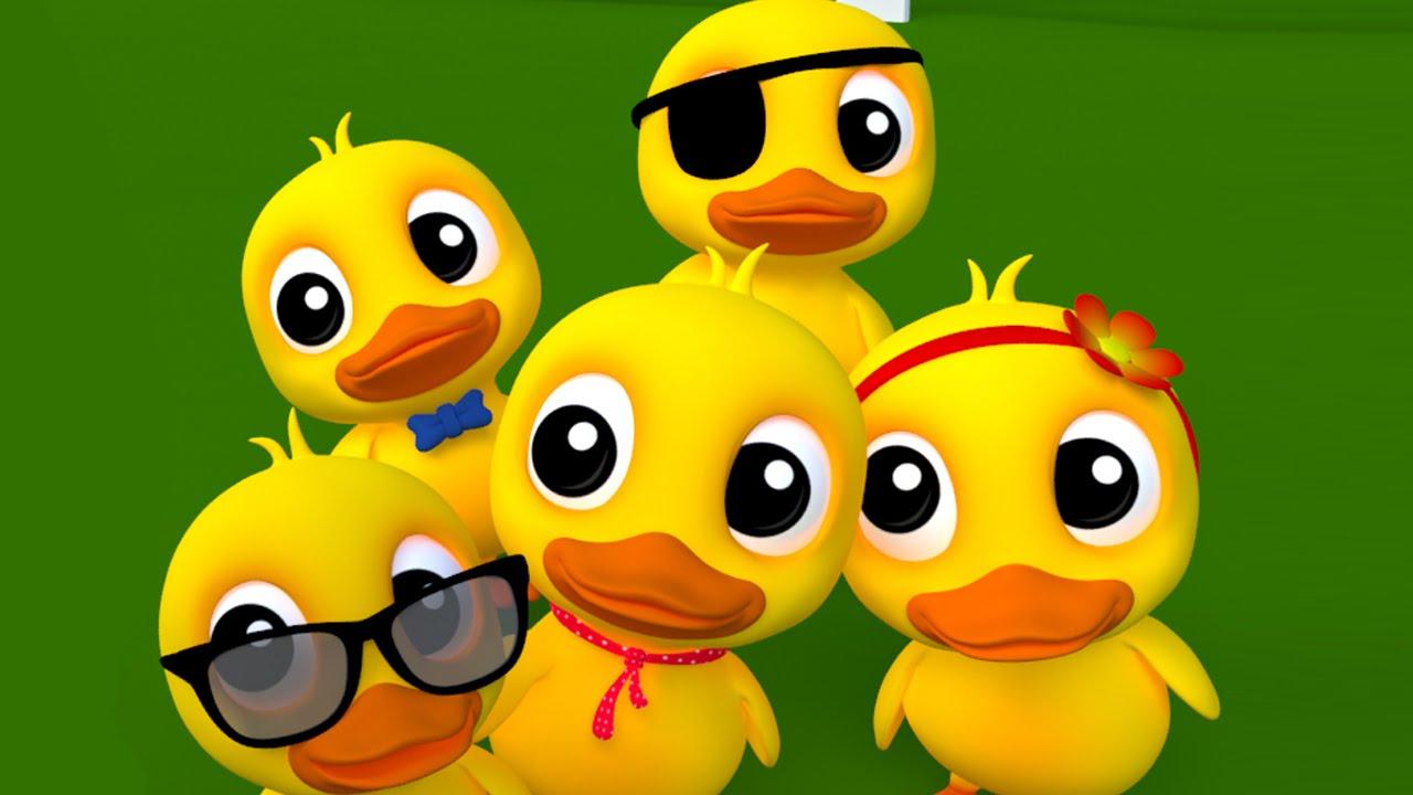 Cinq Petits Canards Riment | Des Chansons Pour Enfants dedans Les Chanson De Bebe