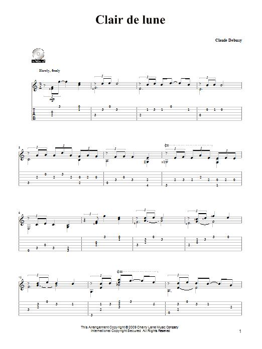 Clair De Lune | Sheet Music Direct pour Lyrics Oh Clair De La Lune