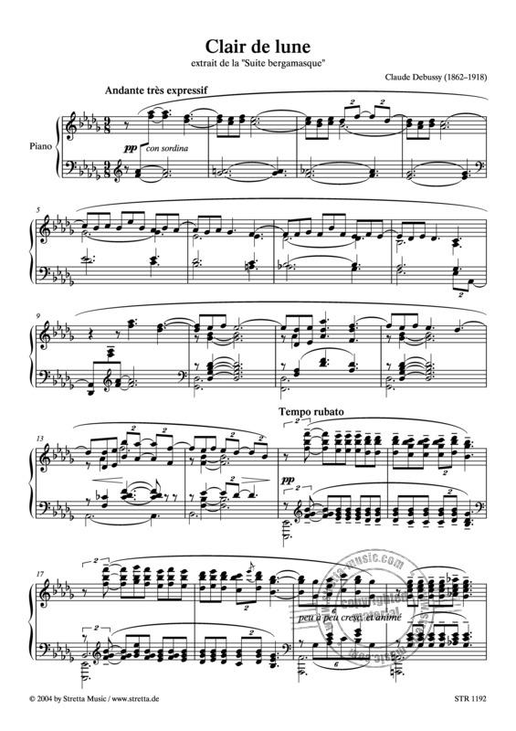 Clair De Lune Van Claude Debussy | In De Stretta destiné Clair De Lune Debussy