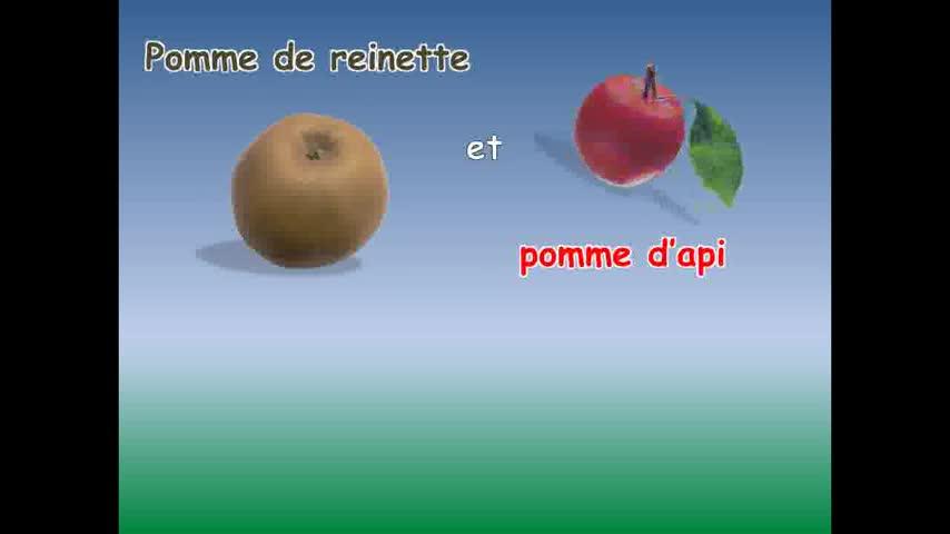 Clip Anny Versini, Pomme De Reinette Feat. Jean Marc pour Pomme D Api Chanson