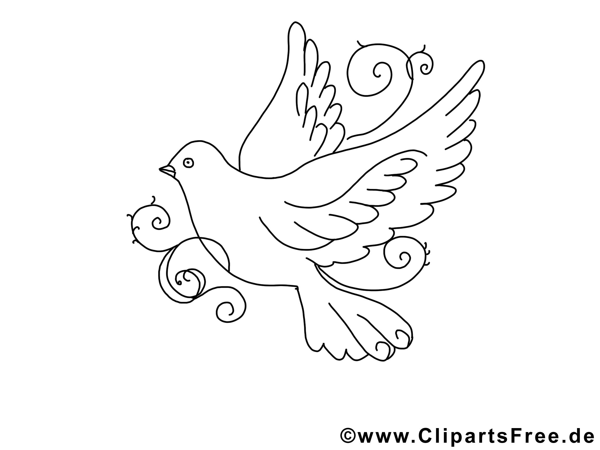 Clip Art Gratuit Colombe – Pentecôte À Imprimer concernant Telecharger Des Coloriage