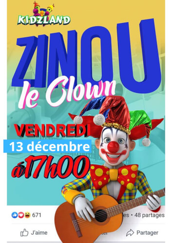 Clown Zino : Spectacle Gratuit ! - Kiddy Sorties à Jeux De Clown Tueur Gratuit