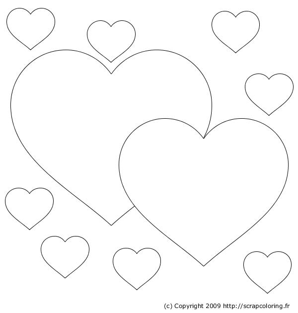 Coeur Colorier Imprimer avec Dessin A Imprimer Coeur
