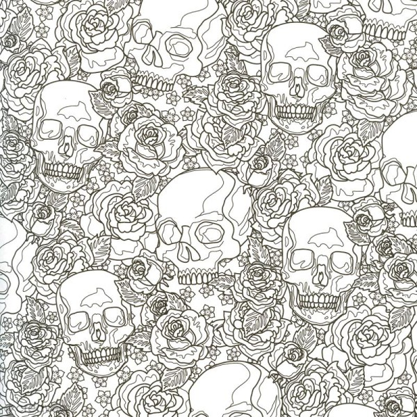 Coffret De Coloriage Art Thérapie - Têtes De Mort À à Coloriage Art Thérapie