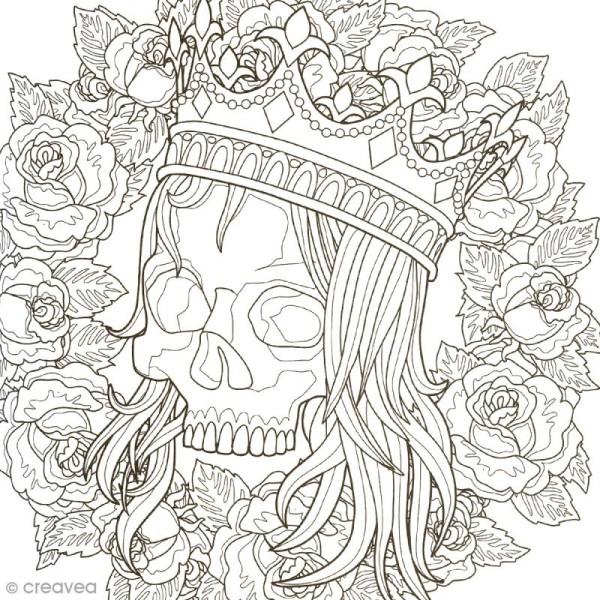 Coffret De Coloriage Art Thérapie - Têtes De Mort À intérieur Art Thérapie Coloriage