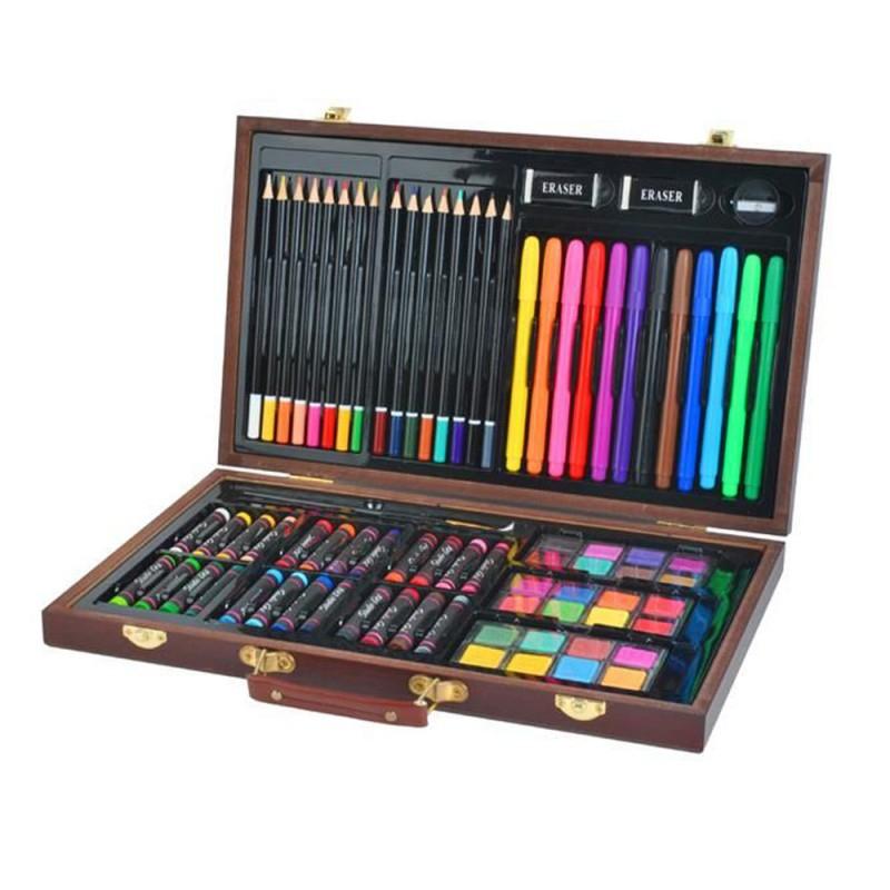Coffret De Crayons De Couleurs, Pastels, Marqueurs Aquarelles. pour Malette De Coloriage