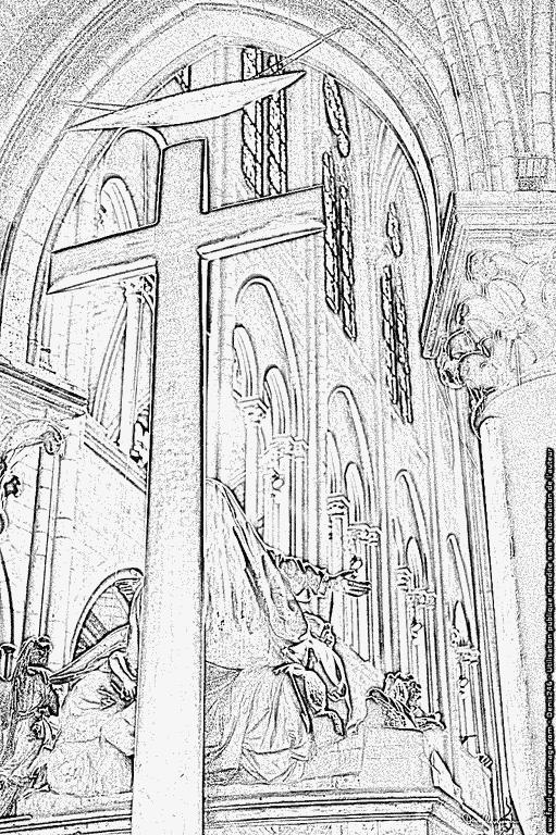 Coloriage 539 Pieta Choeur Notre Dame De Paris À Imprimer tout Coloriage Notre Dame De Paris