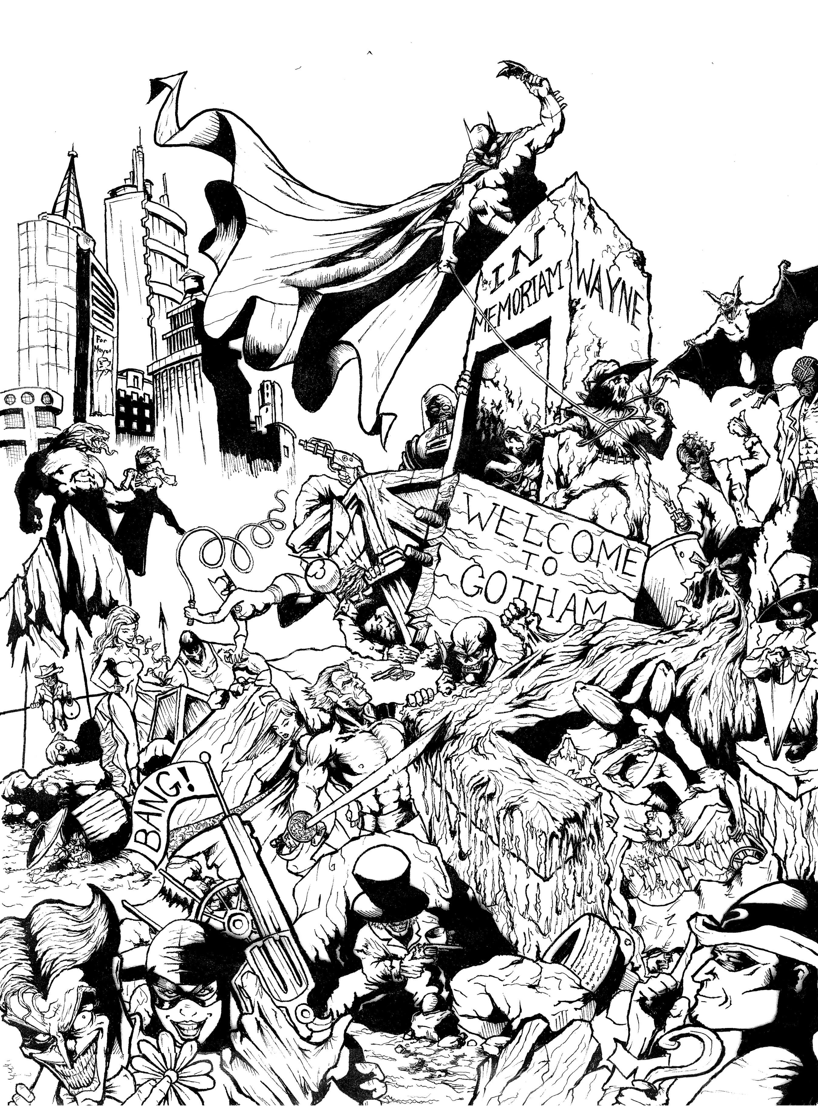 Coloriage À Dessiner Batman À Imprimer Gratuit intérieur Coloriage À Imprimer Batman