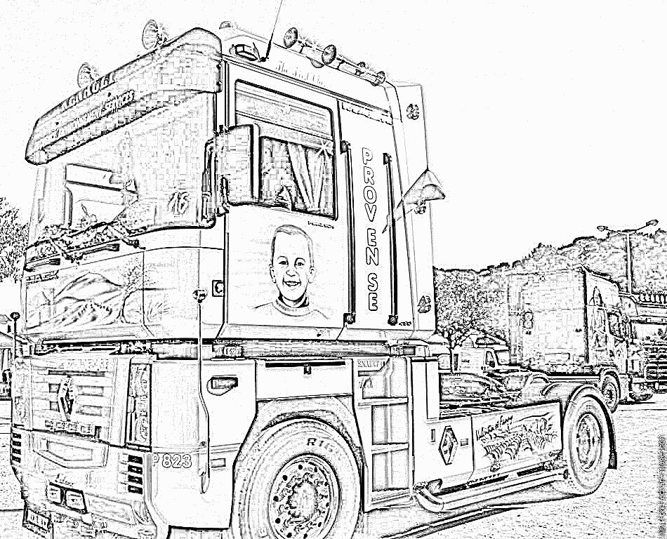 Coloriage À Dessiner Camion Militaire tout Coloriage Camion A Imprimer