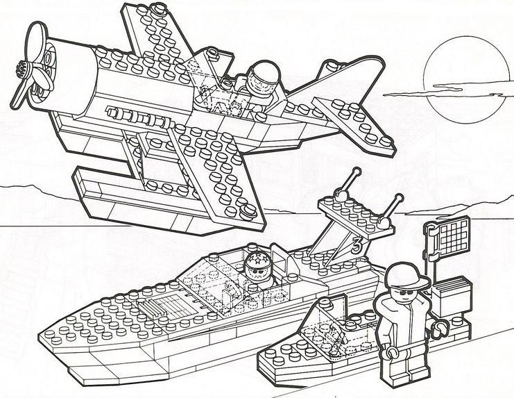 Coloriage À Dessiner Lego City Voiture tout Dessin Animé Lego City