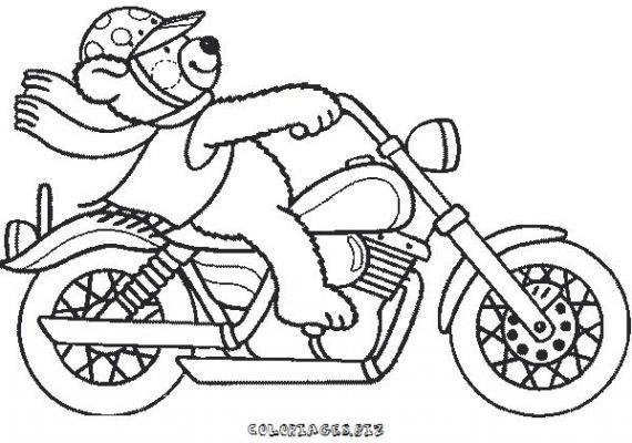 Coloriage à Dessiner Mario Et Sa Moto dedans Coloriage Moto De Course A Imprimer Gratuit