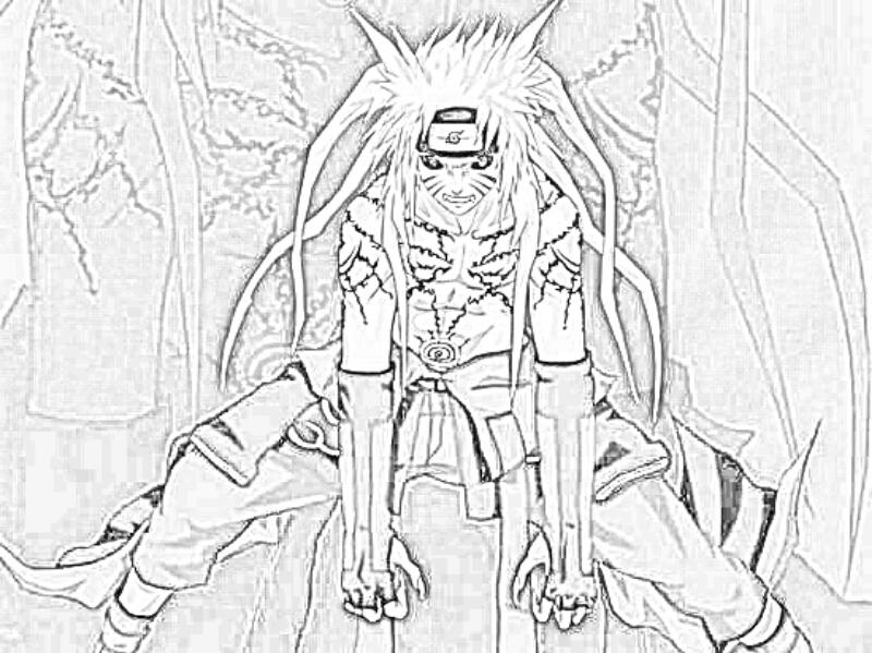 Coloriage À Dessiner Naruto Shippuden Kyubi avec Naruto Shipuden Coloriage