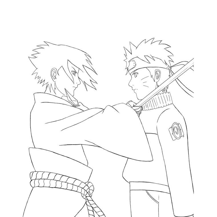 Coloriage À Dessiner Naruto Shippuden Kyubi dedans Naruto Coloriage
