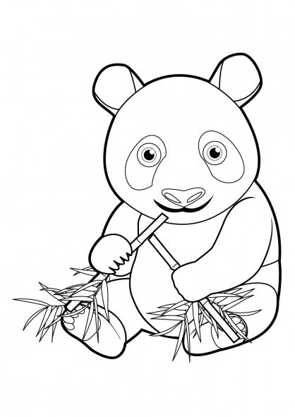 Coloriage À Dessiner Panda Roux encequiconcerne Panda A Colorier