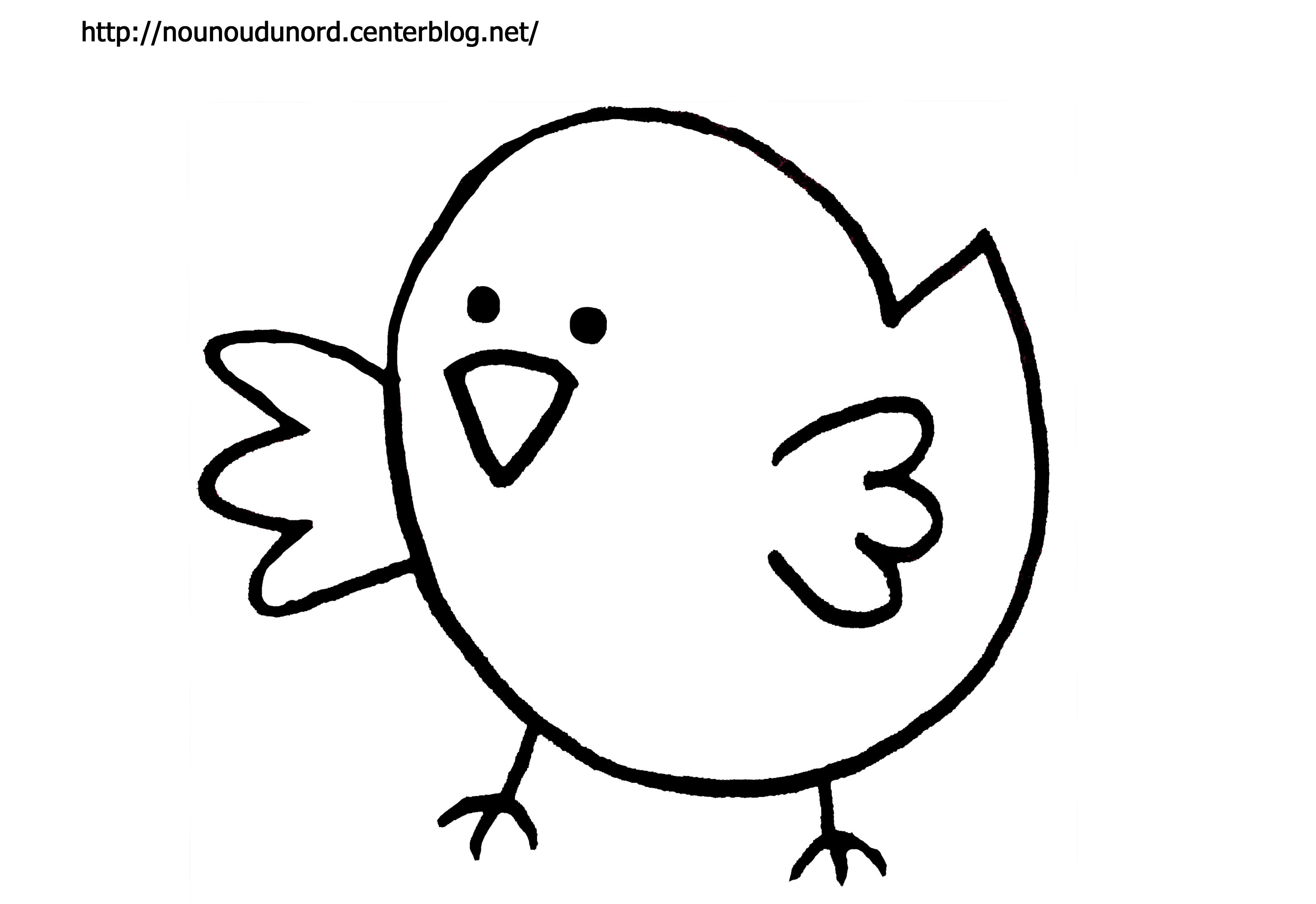 Coloriage À Dessiner Poussin Poule Coq concernant Coloriage Poussin A Imprimer Gratuit