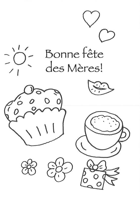Coloriage À Imprimer : Bonne Fête Des Mères - Petits Cadeaux pour Coloriage De Fête Des Mères À Imprimer