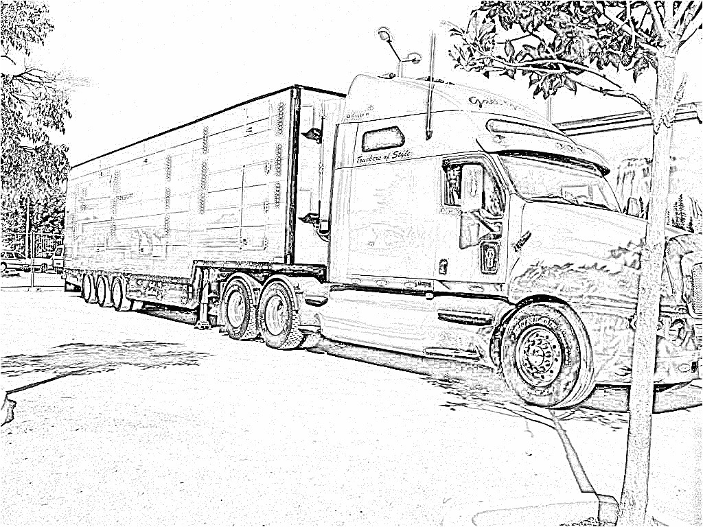 Coloriage A Imprimer Camion Americain | Danieguto à Coloriage Camion A Imprimer