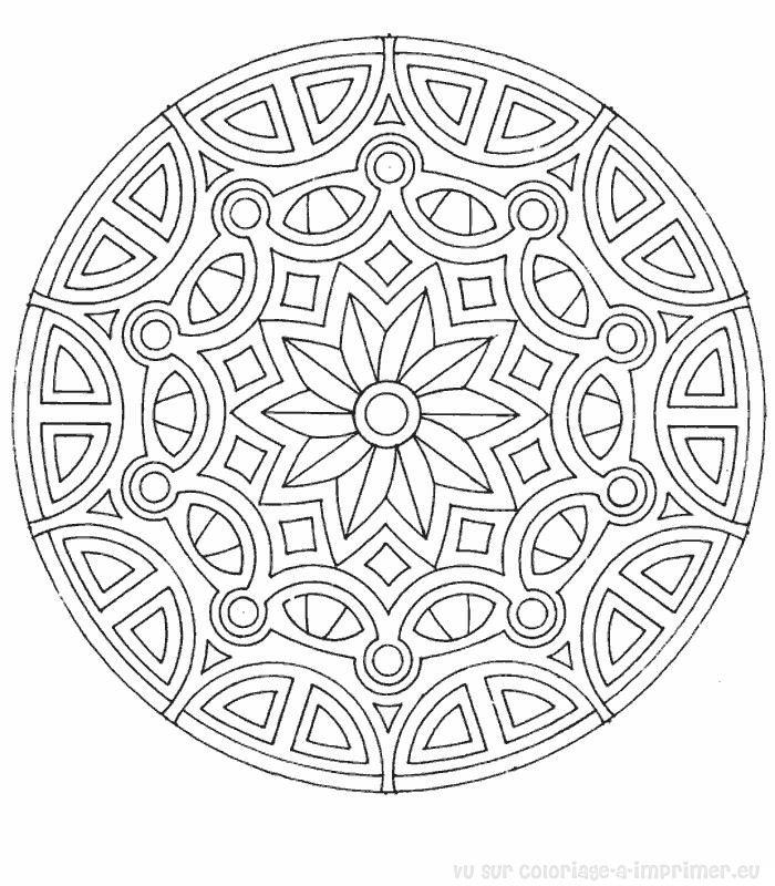 Coloriage À Imprimer Coloriage Mandala 033 tout Mandala À Colorier En Ligne