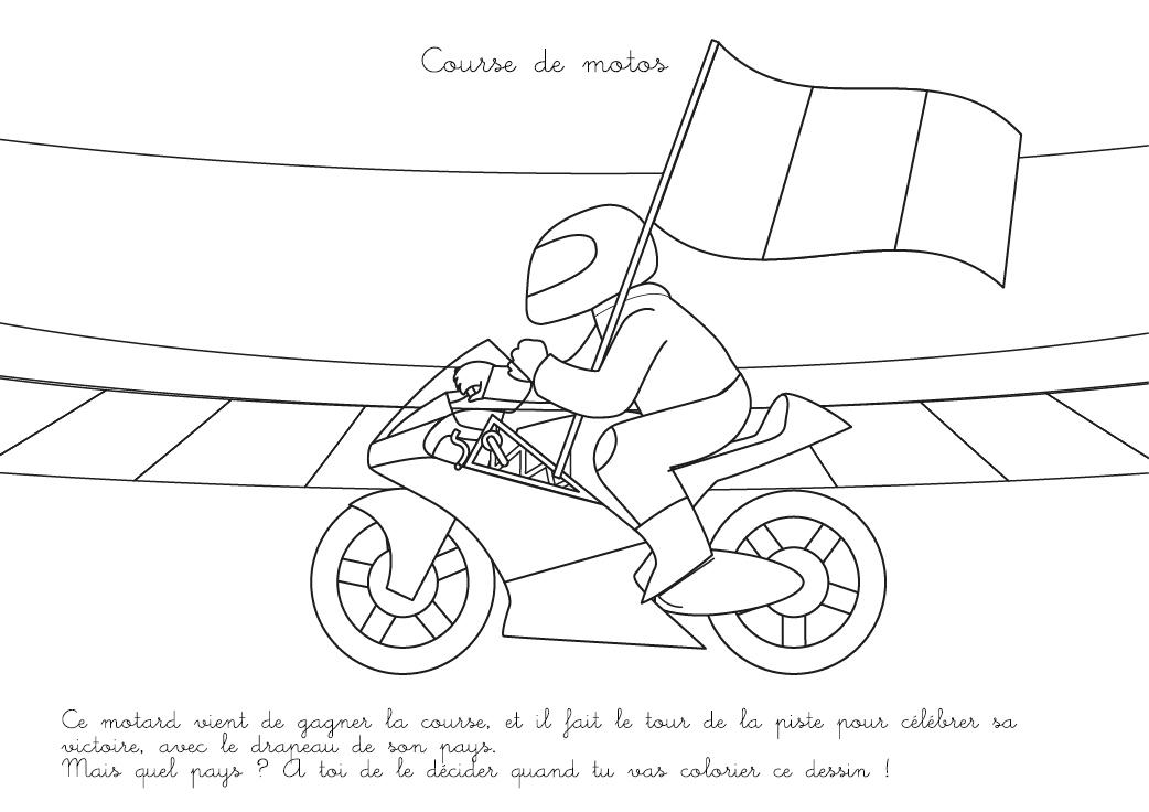 Coloriage À Imprimer : Course De Motos encequiconcerne Coloriage Moto De Course A Imprimer Gratuit