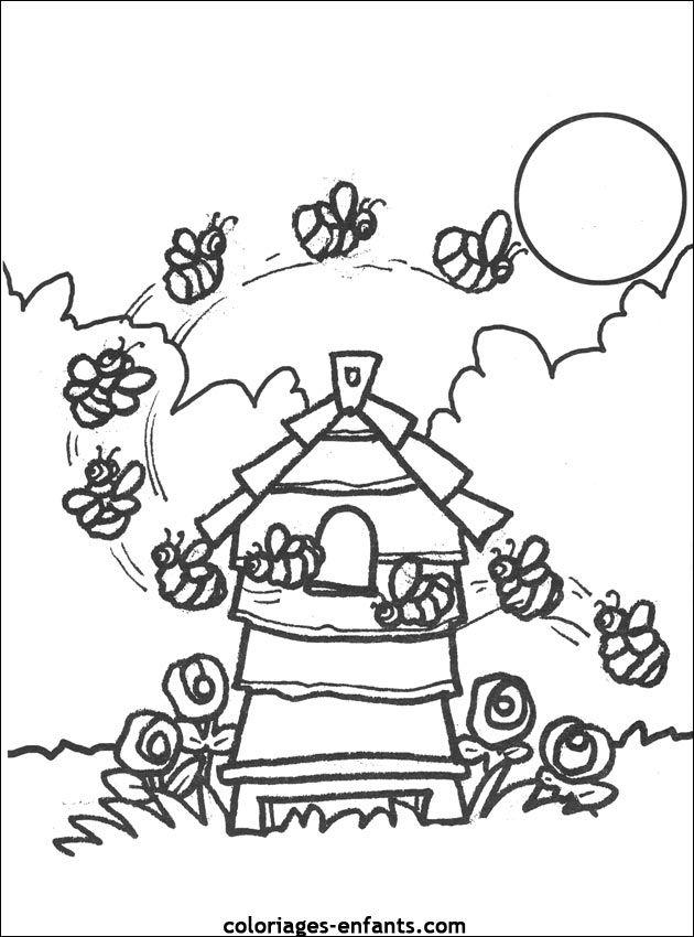 Coloriage À Imprimer D'Abeilles | Coloriage, Abeille concernant Coloriage Abeille A Imprimer Gratuit