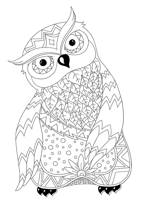 Coloriage À Imprimer D'Animaux : La Chouette | Blog Dinett destiné Coloriage À Imprimer Animaux