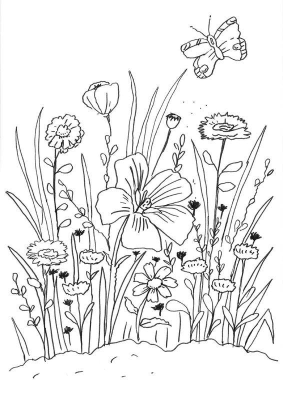 Coloriage À Imprimer : Fleurs Et Papillon tout Coloriage De Papillon A Imprimer Gratuit