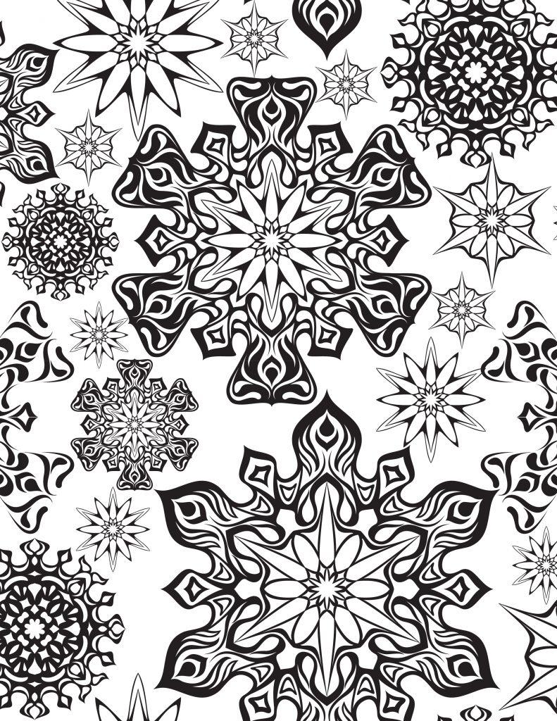 Coloriage À Imprimer Flocons Première Neige - Artherapie.ca concernant Flocon À Colorier