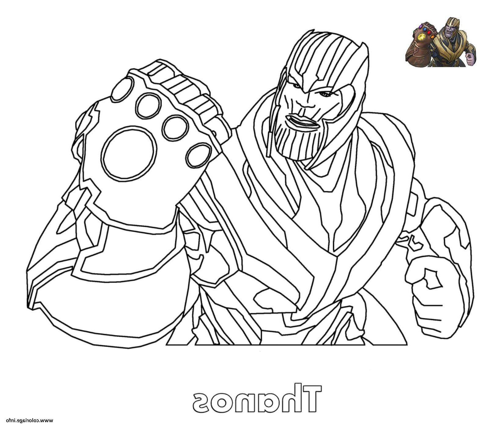 Coloriage À Imprimer Fortnite Génial Coloriage Thanos destiné Dessin A Imprimer Personnage Fortnite
