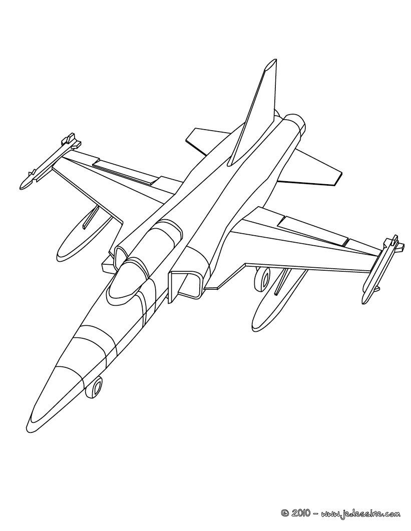 Coloriage A Imprimer Gratuit Avion De Chasse destiné Dessin Avion De Chasse