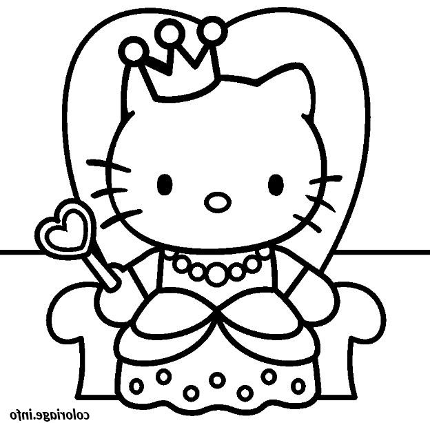 Coloriage A Imprimer Hello Kitty Cool Images Coloriage concernant Dessin Hello Kitty À Imprimer
