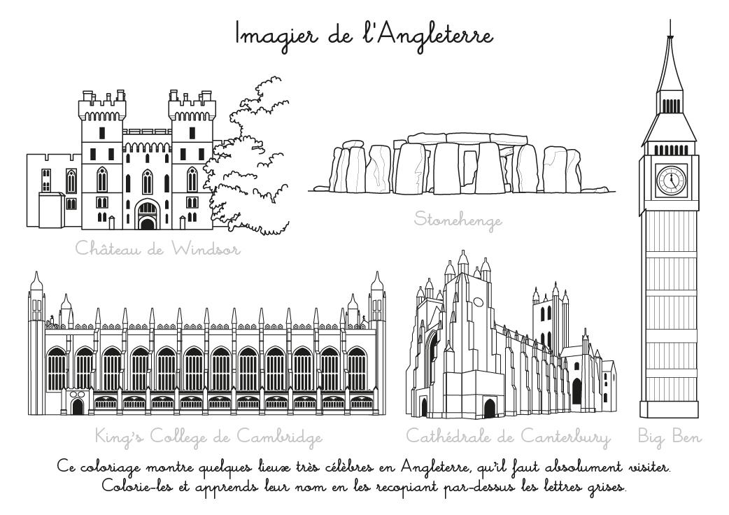 Coloriage À Imprimer : Imagier De L'Angleterre intérieur Dessin De L Angleterre