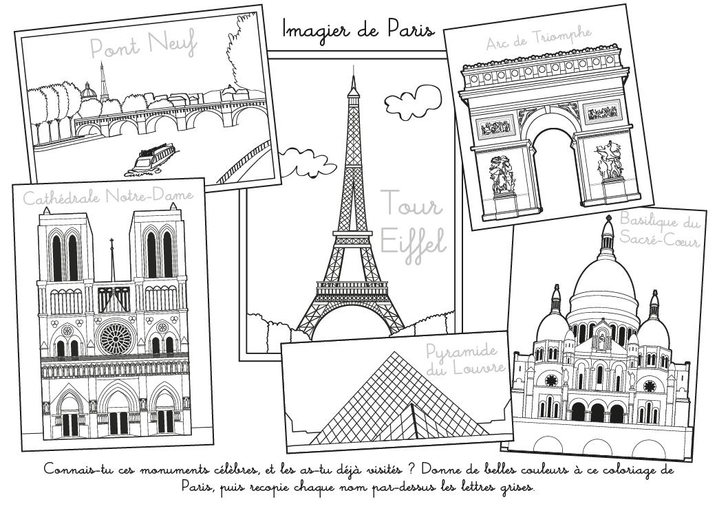 Coloriage À Imprimer : Imagier De Paris encequiconcerne Coloriage Notre Dame De Paris
