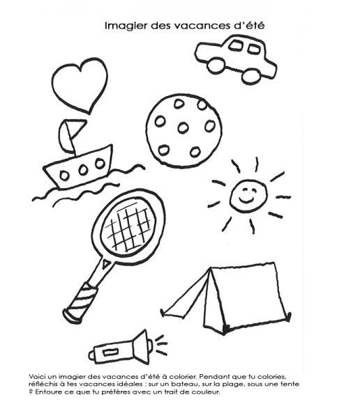 Coloriage À Imprimer : Imagier Des Vacances D'Été dedans Coloriage Vacances A Imprimer Gratuit