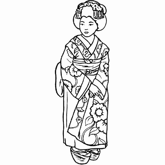 Coloriage A Imprimer Japonais serapportantà Dessin Japonais A Colorier