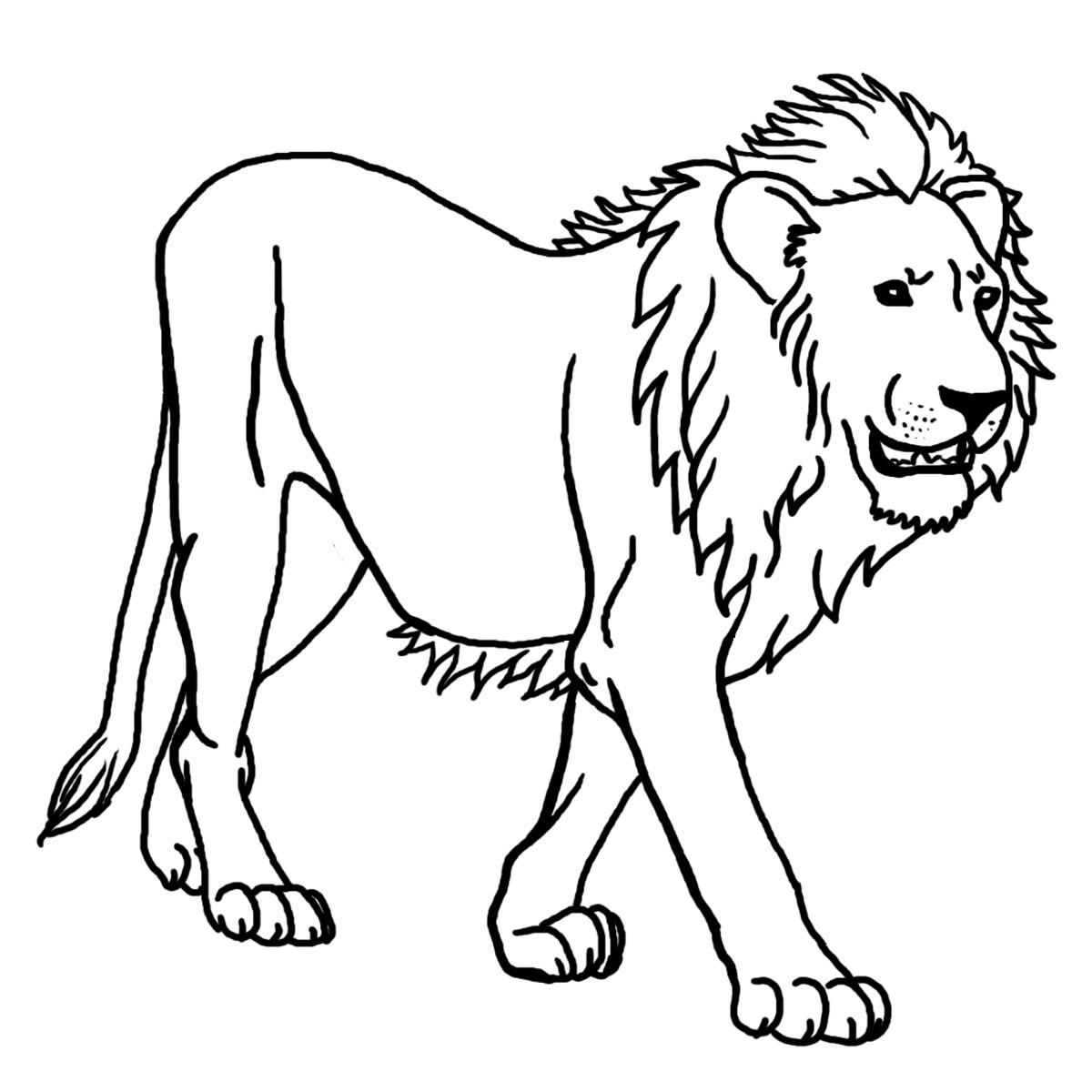Coloriage À Imprimer Lion | My Blog destiné Coloriage Lionne