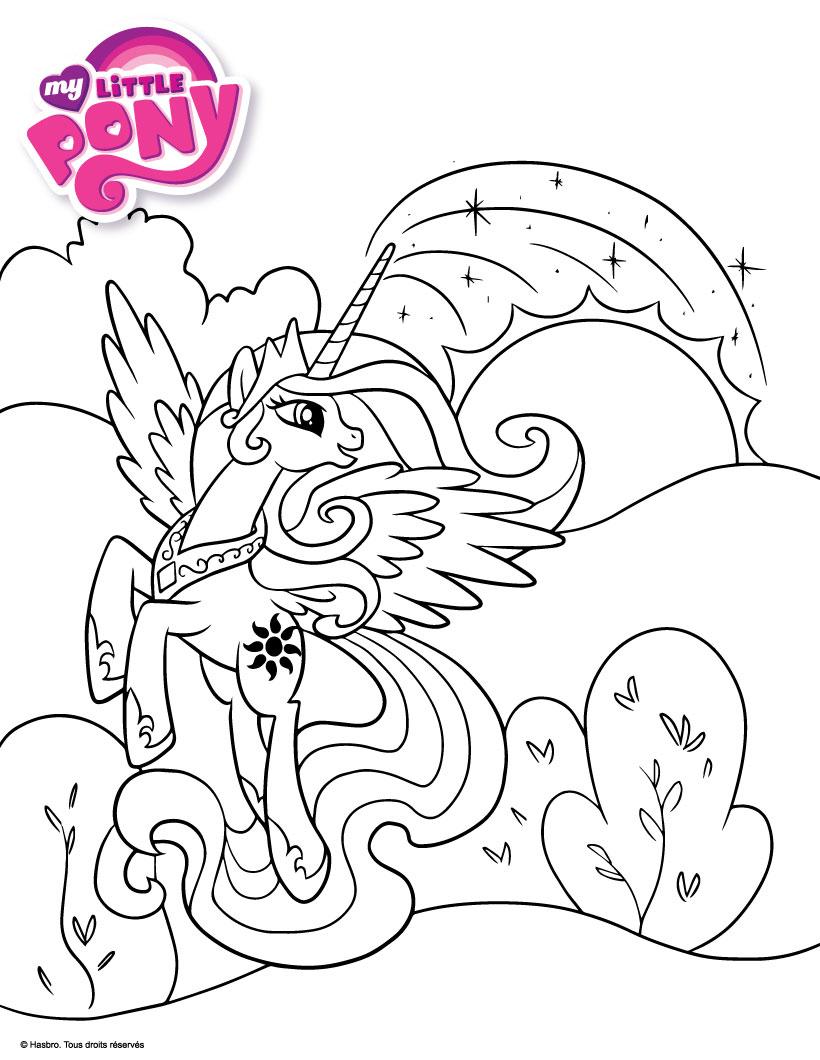 Coloriage À Imprimer My Little Pony | My Blog serapportantà Coloriage A Imprimer Licorne Et Princesse