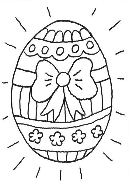 Coloriage À Imprimer : Oeuf De Pâques Géant intérieur Dessin Oeuf De Paques