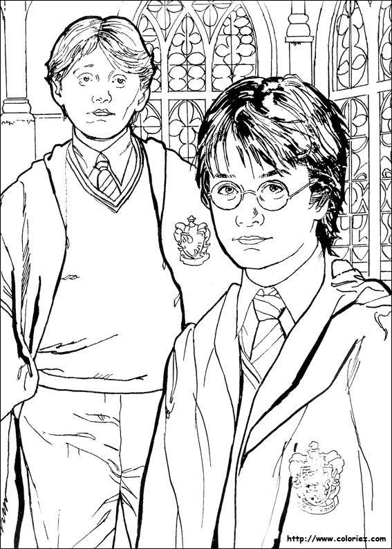 Coloriage À Imprimer : Personnages Célèbres - Harry Potter avec Coloriage Harry Potter