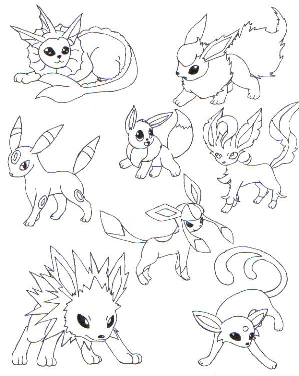 Coloriage A Imprimer Pokemon Famille Evoli encequiconcerne Coloriage Pokemon Evoli