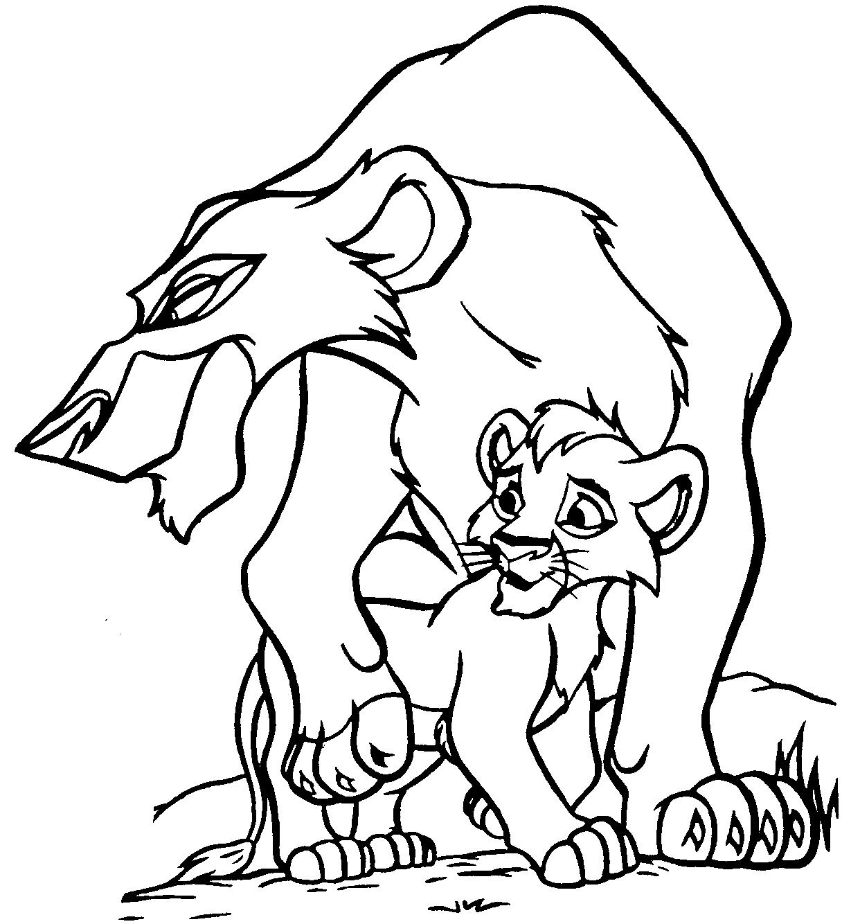 Coloriage A Imprimer Roi Lion 2 - Ancenscp tout Coloriage Roi Lion À Imprimer