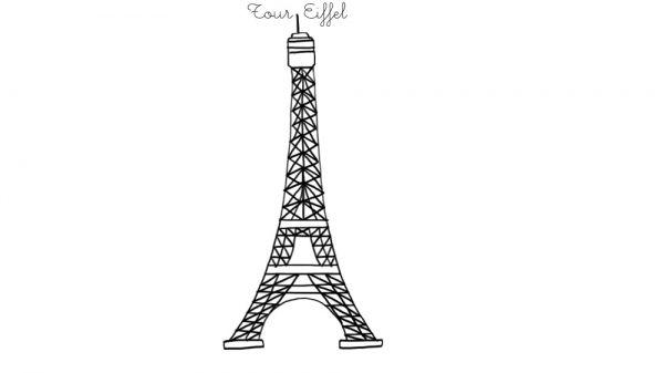 Coloriage À Imprimer : Tour Eiffel concernant Tour Effel Dessin