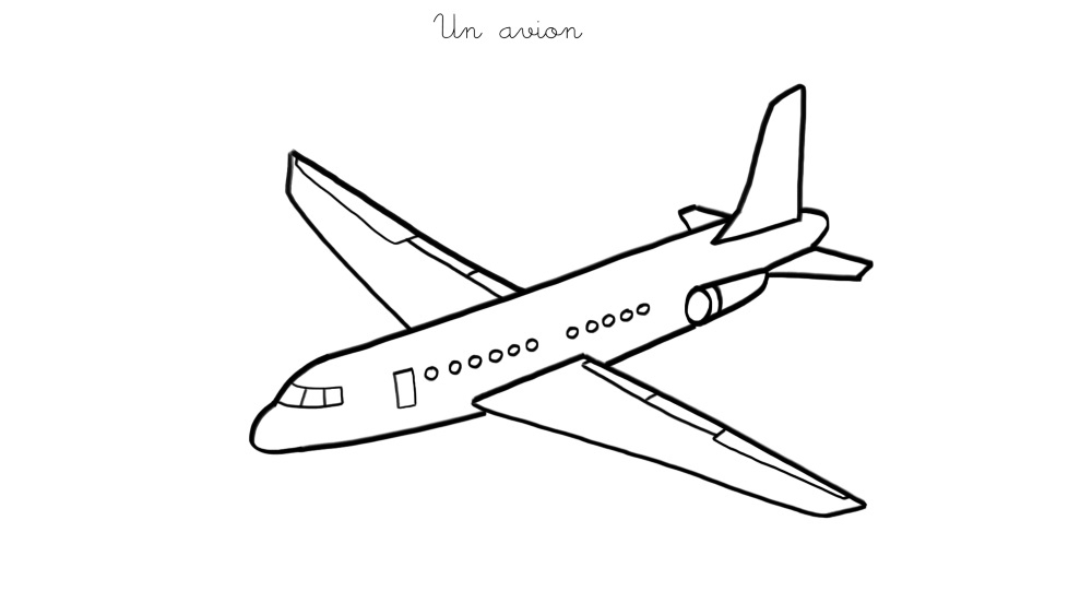 Coloriage À Imprimer : Un Avion à Coloriage Avion