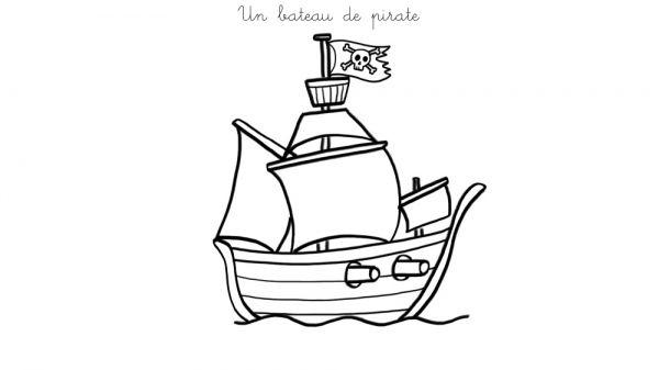 Coloriage À Imprimer : Un Bateau De Pirate encequiconcerne Comment Dessiner Peter Pan